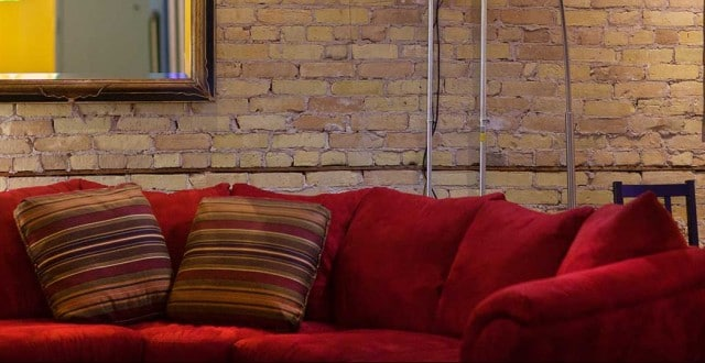 Aimclear's Red Couch
