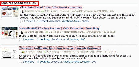 Chocolate Sites Featured on StumbleUpon.