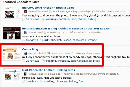 Candy Blog, more Featured Chocolate Sites from Stumbleupon