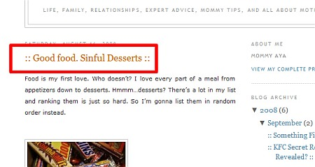 Chocolate Post, Good Food Sinful Desserts from weBlog.