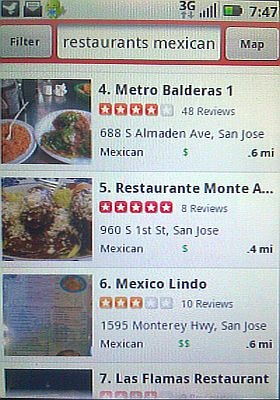 Restaurant on Yelp