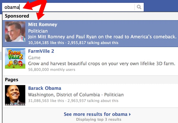 Mitt Romney's Direct Facebook Trick