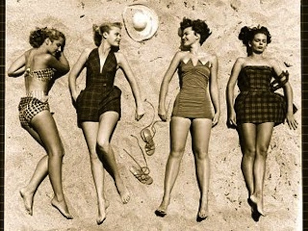 vintage sunbathing girls