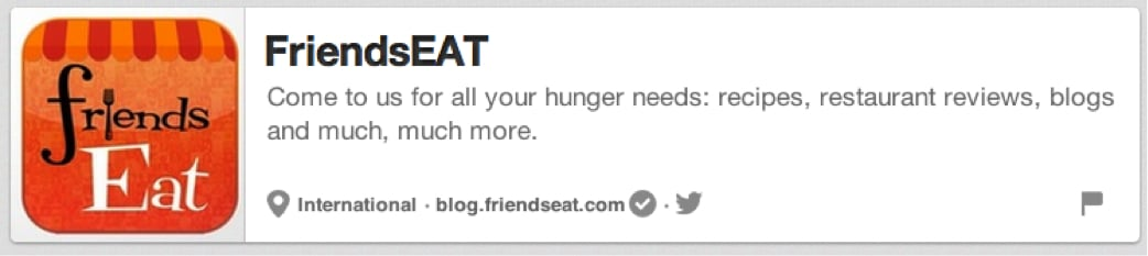 FriendsEAT Pinterest Page