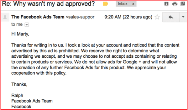 Facebook Ads Email