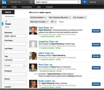how to search linkedin blogs