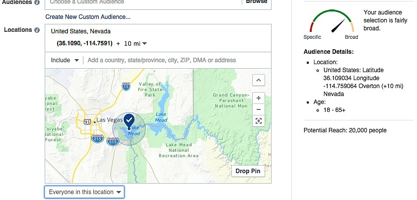 2015.07-aimClear-Facebook-Targeting-Hot-House-Geo-Pin-Lake-Mead