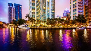 Fort-Lauderdale-lights-reflection-water