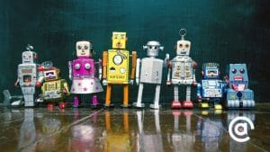 Photo of various antique toy robots