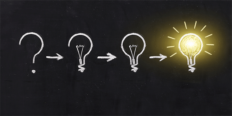Questions lead to ideas and innovation.