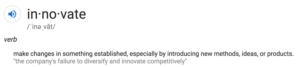 shows the phonetic pronunciation of innovate